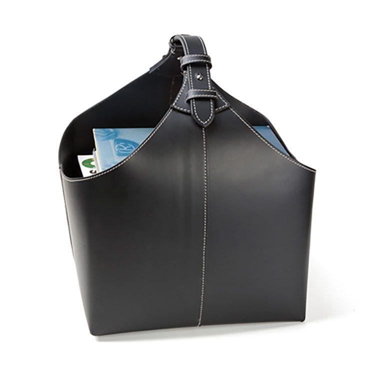 Kleiner schwarzer Orskov Lederkorb bei der Boutique Danoise