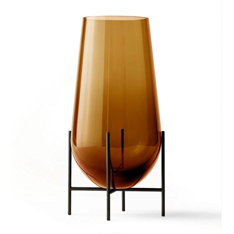 Grosse braune Menu Echasse Vase bei der Boutique Danoise