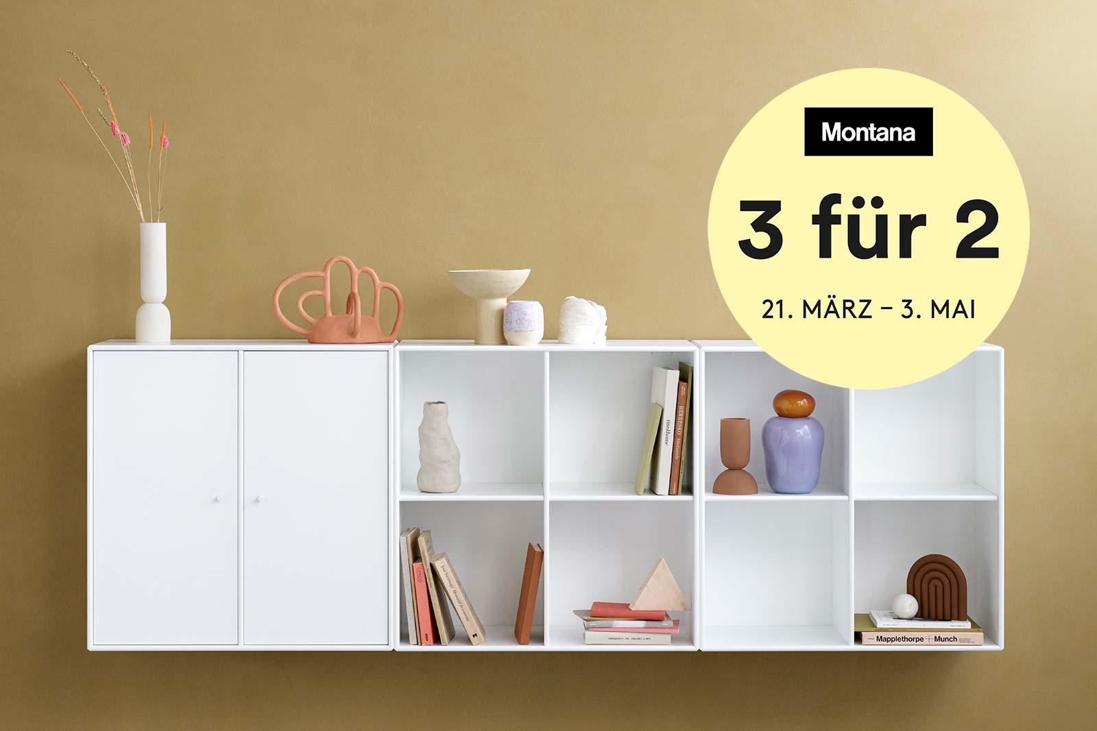 """Montana """"3 für 2"""" Kampagne 2020, Boutique Danoise Basel Daenische Designer Moebel Accessoires Wohnen News"""