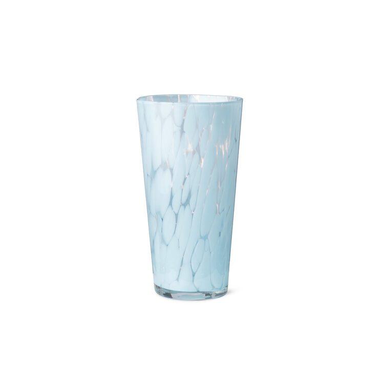 Blaue Ferm Living Vase Casca bei der Boutique Danoise