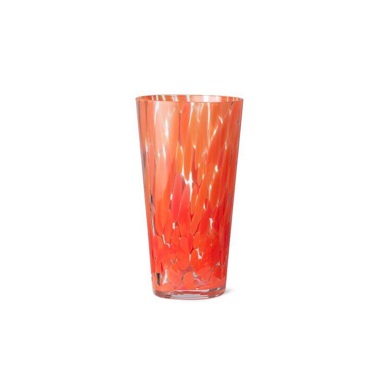 Rote Ferm Living Vase Casca bei der Boutique Danoise