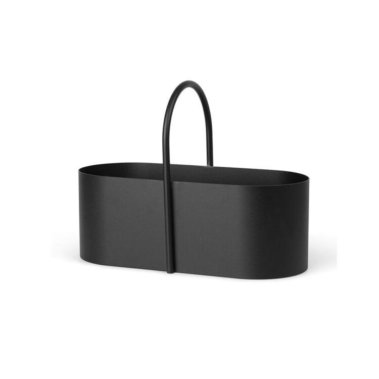 Schwarze Ferm Living Aufbewahrungsbox bei der Boutique Danoise