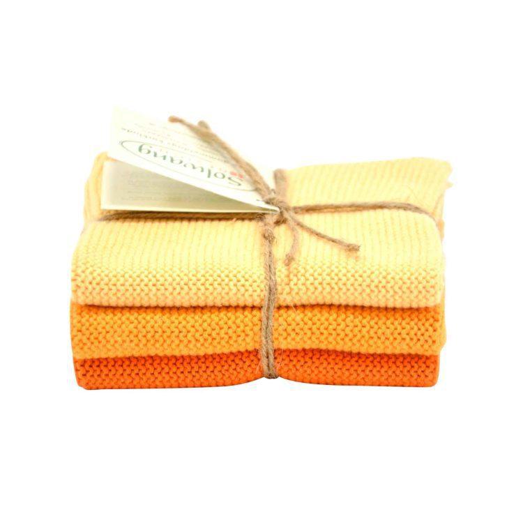 Solwang Wischlappen 3er Set - Orange
