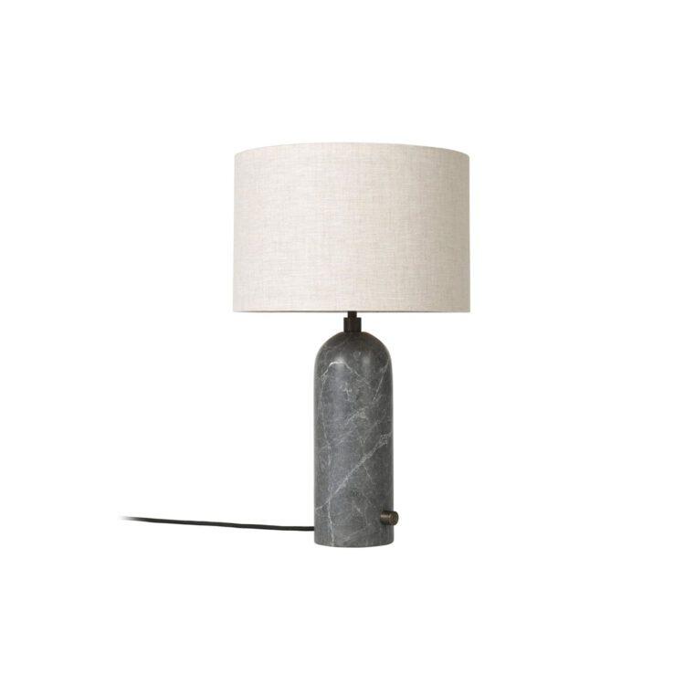 elegante Tischlampe Marmor Stoff