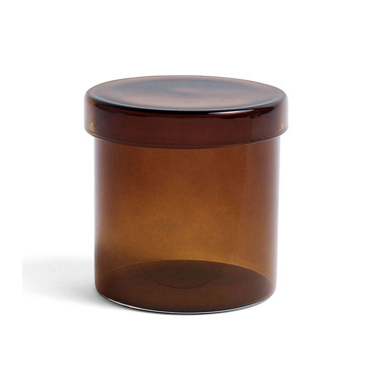 Grosser brauner Hay Glasbehälter bei der Boutique Danoise