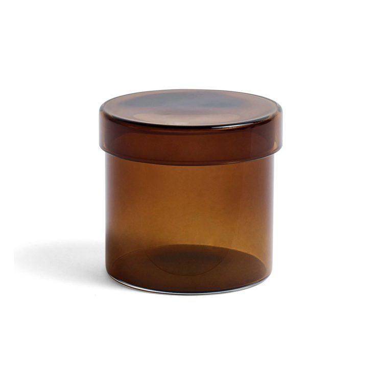 Kleiner brauner HAY Glasbehälter bei der Boutique Danoise