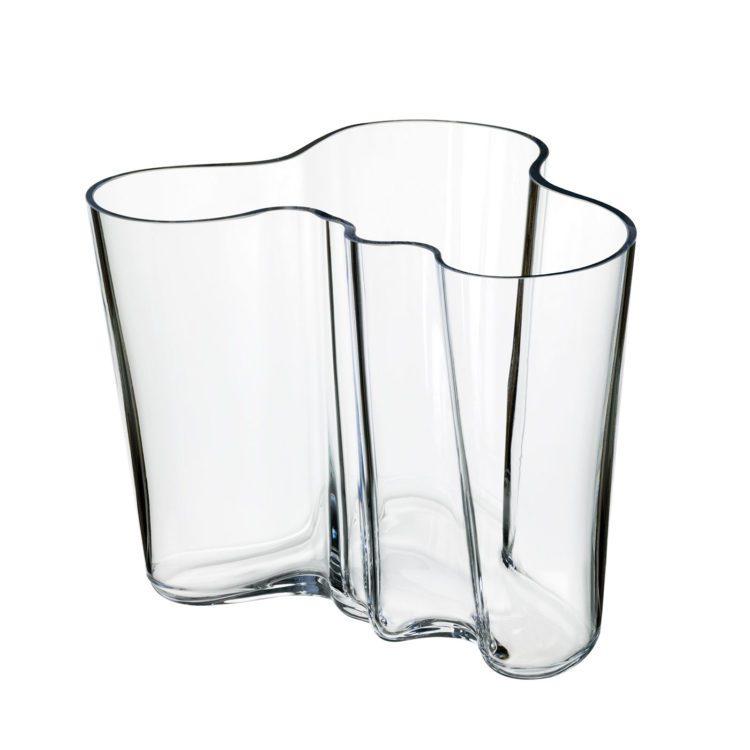 Transparente kleine Iittala Alvar Aalto Vase bei der Boutique Danoise