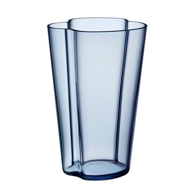 Hohe blaue Alvar Aalto Vase bei der Boutique Danoise