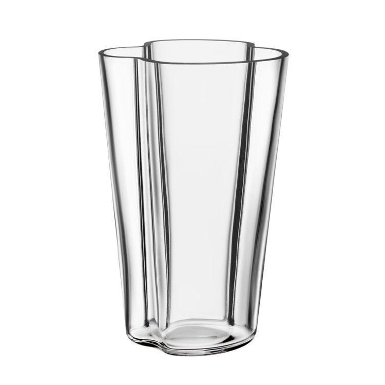 Hohe transparente Alvar Aalto Vase bei der Boutique Danoise