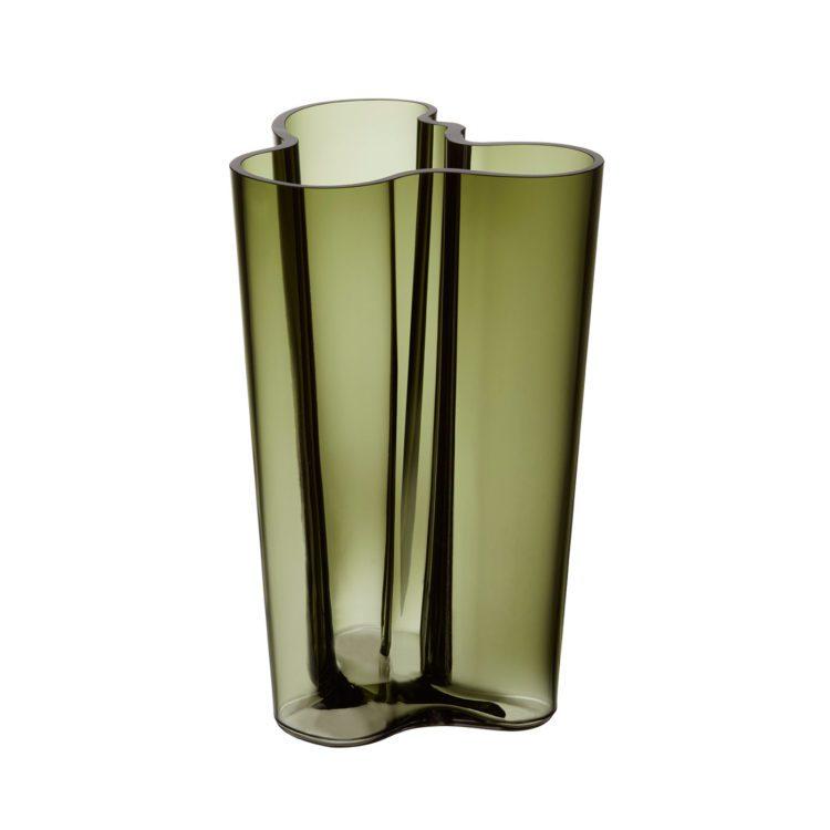 Hohe grüne Iittala Vase bei der Boutique Danoise