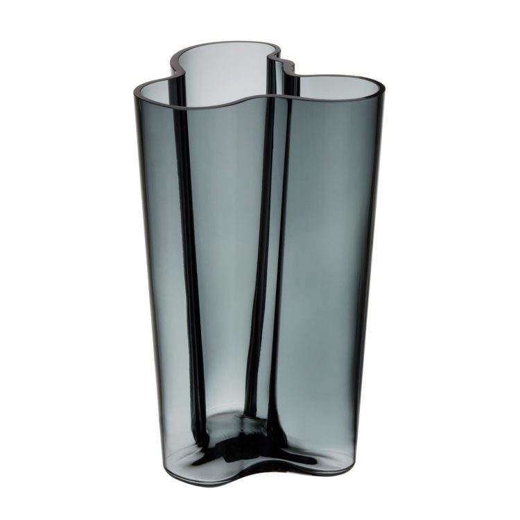 Hohe graue Iittala Vase bei der Boutique Danoise