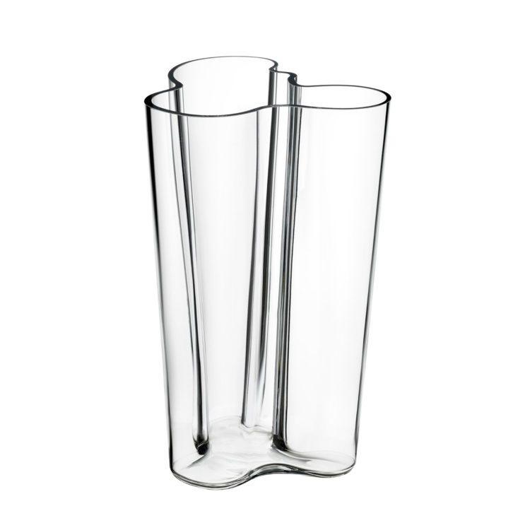 Hohe transparente Iittala Vase bei der Boutique Danoise