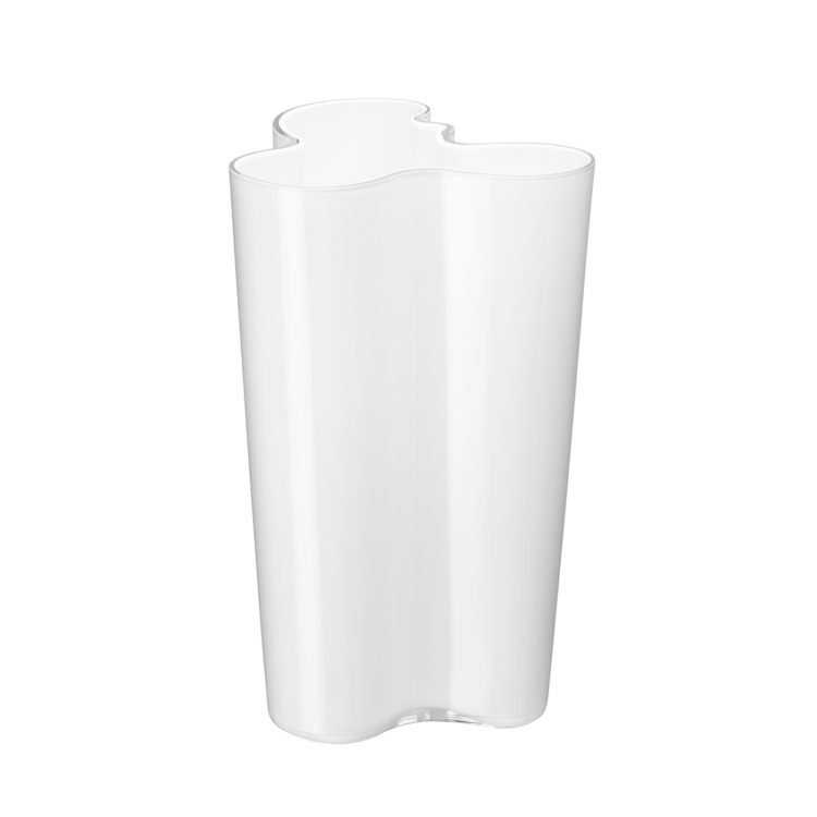 Hohe weisse Iittala Vase bei der Boutique Danoise