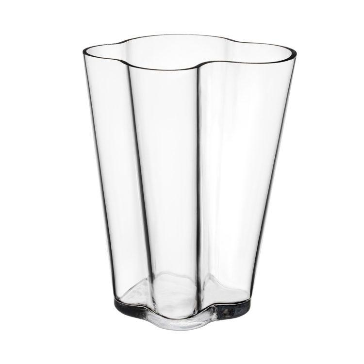 Hohe transparente Iittala Alvar Aalto Vase bei der Boutique Danoise