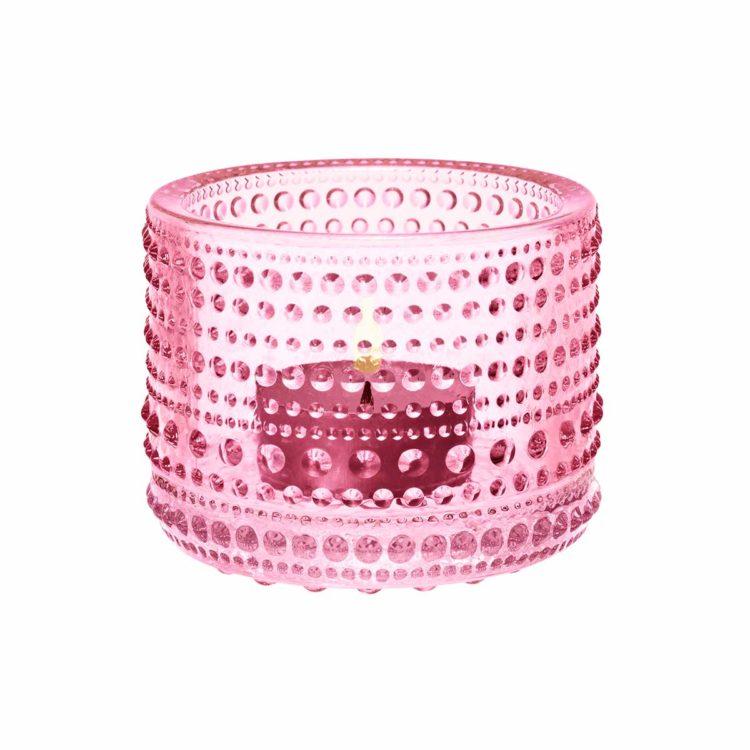 Rosa Iittala Teelicht Kastehelmi bei der Boutique Danoise