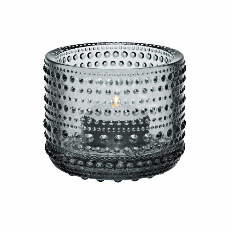 Graues Iittala Teelicht Kastehelmi bei der Boutique Danoise