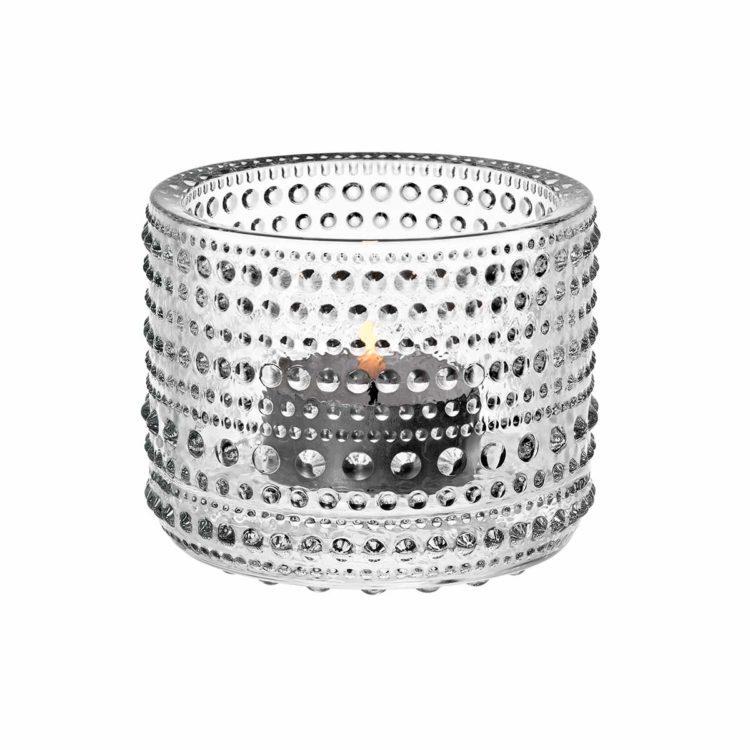 Transparentes Iittala Teelicht Kastehelmi bei der Boutique Danoise