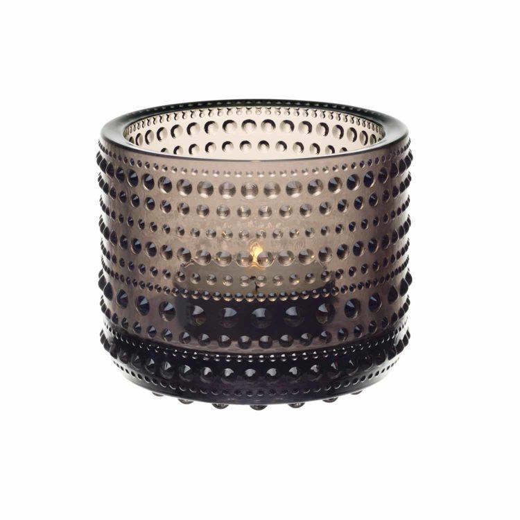 Braunes Iittala Teelicht Kastehelmi bei der Boutique Danoise