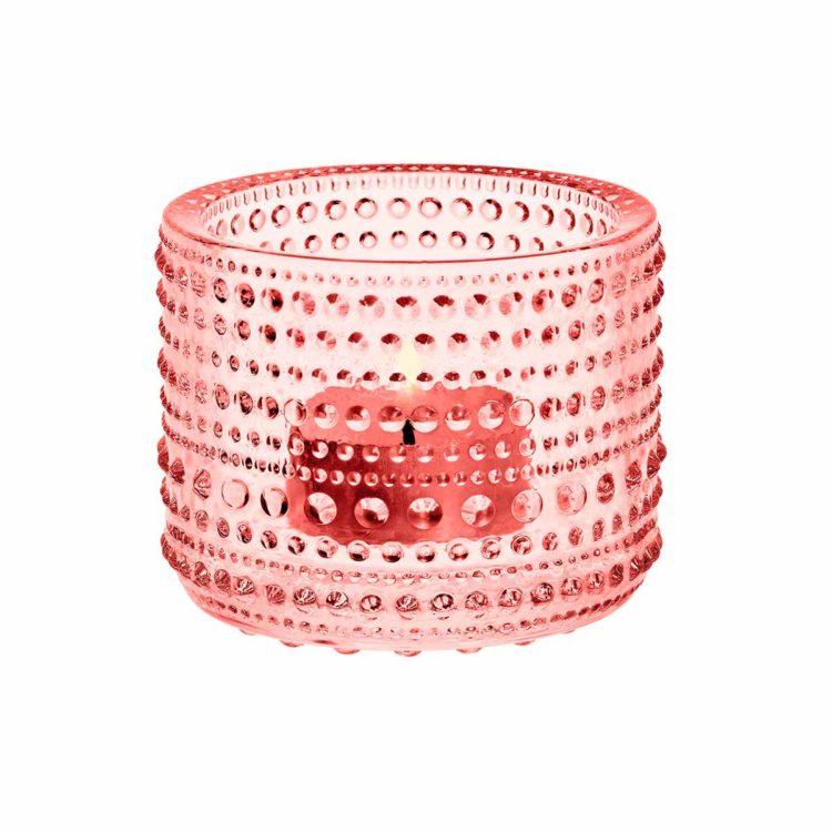 Pinkes Iittala Teelicht Kastehelmi bei der Boutique Danoise