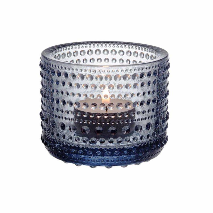 Hellgraues Iittala Teelicht Kastehelmi bei der Boutique Danoise