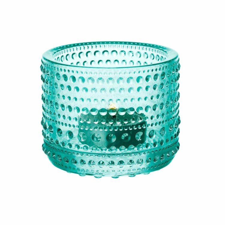 Grünes Iittala Teelicht Kastehelmi bei der Boutique Danoise