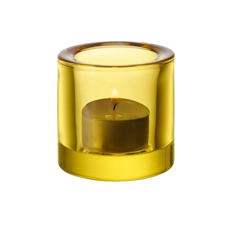 Gelbes Iittala Kivi Teelicht bei der Boutique Danoise