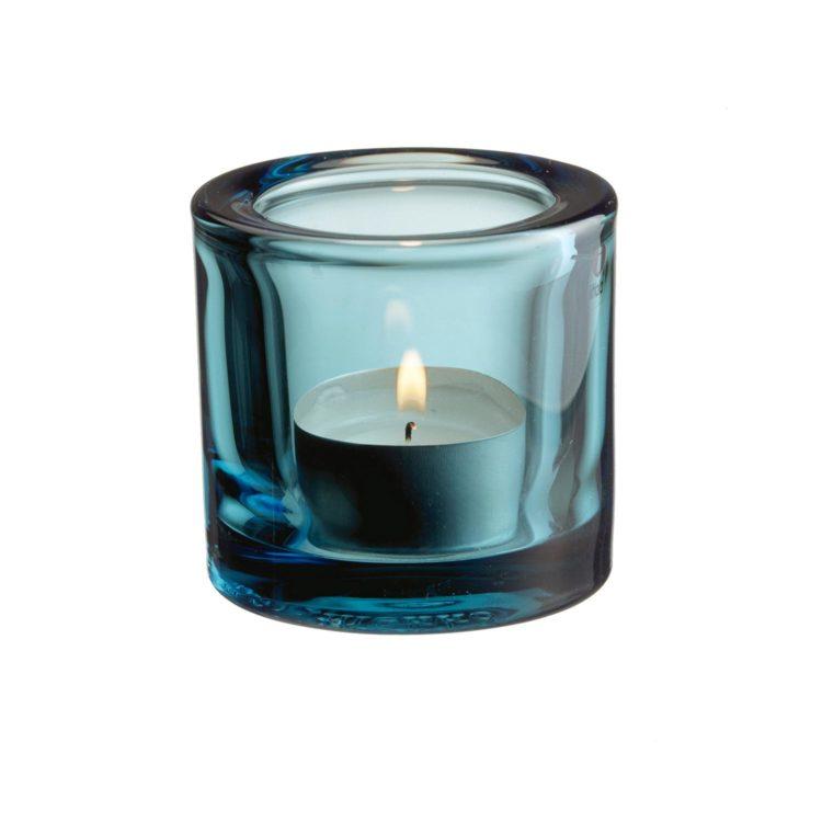 Hellblaues Iittala Kivi Teelicht bei der Boutique Danoise