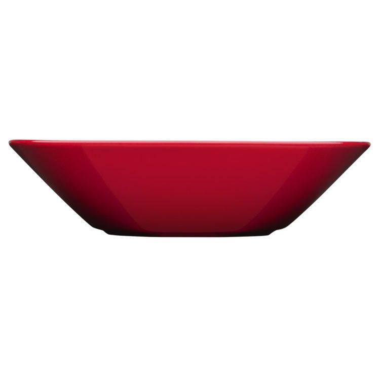 Roter tiefer Iittala Teema Teller 21 cm bei der Boutique Danoise