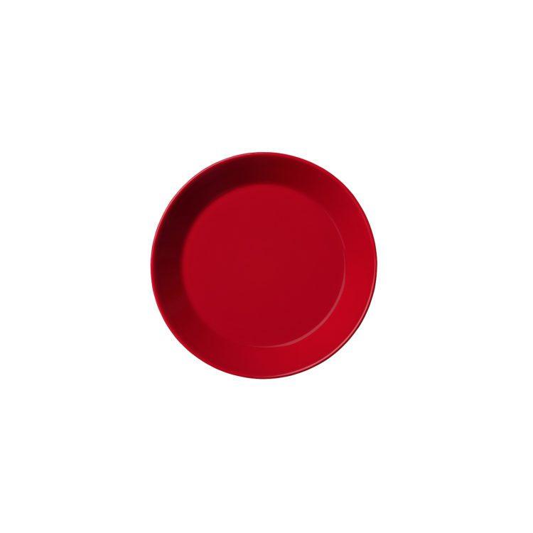 Kleiner roter Iittala Teema Teller 17 cm