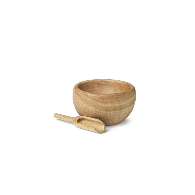 Ein skandinavische Salzschale aus Holz
