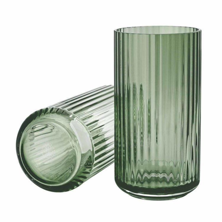 Lyngby Vase aus grünem Glas bei der Boutique Danoise