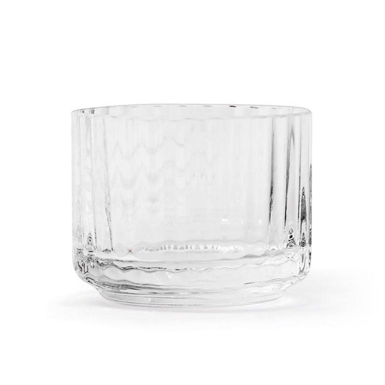 Lyngby Teelicht aus transparentem Glas bei der Boutique Danoise