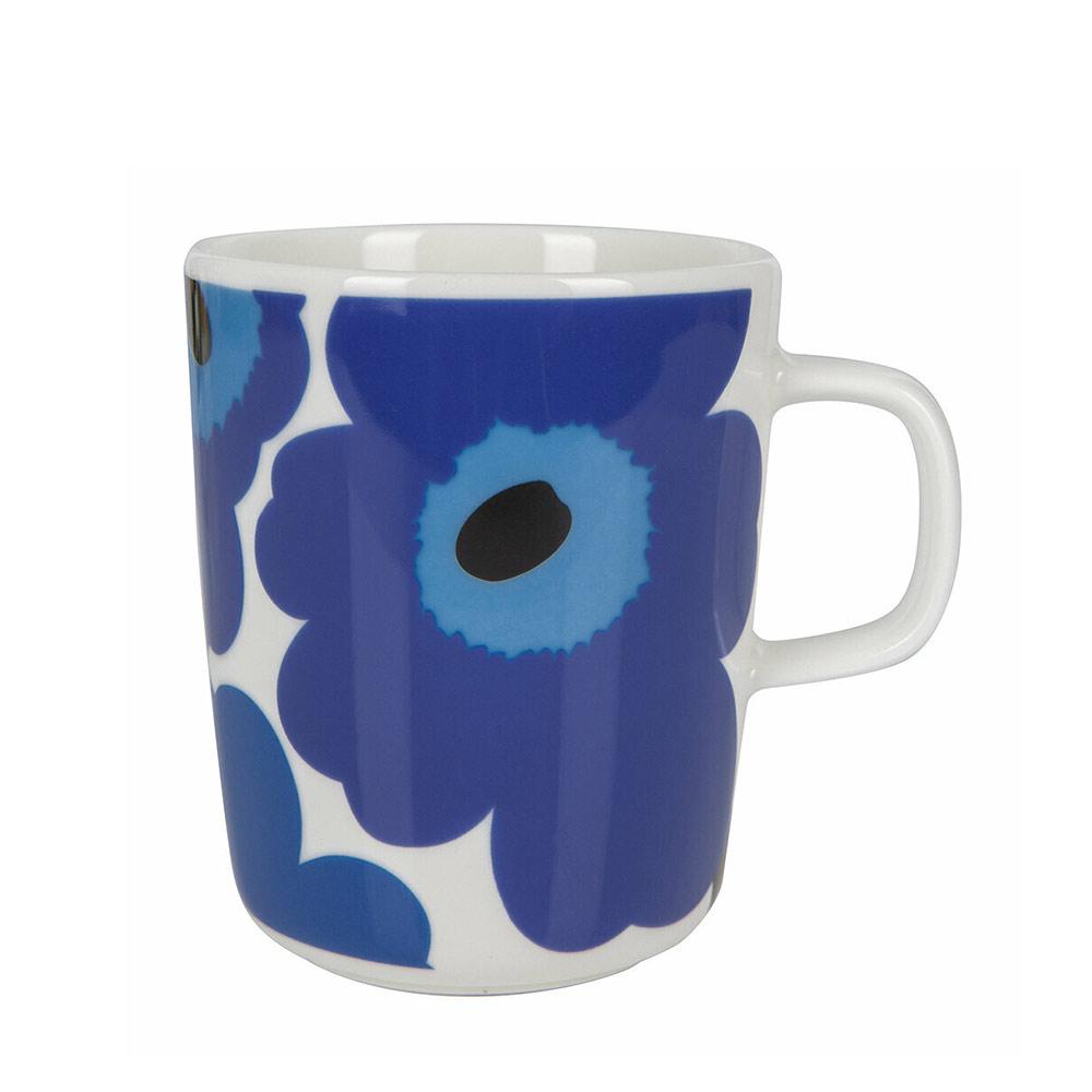 blaue Marimekko Unikko Tasse bei der Boutique Danoise