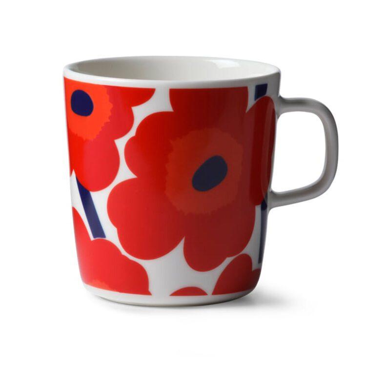 Rote Marimekko Unikko Tasse 4 dl bei der Boutique Danoise