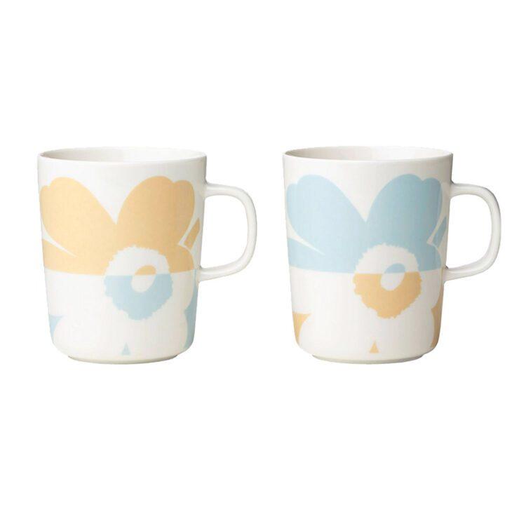 Set von 2 kleinen Marimekko Unikko Tassen bei der Boutique Danoise