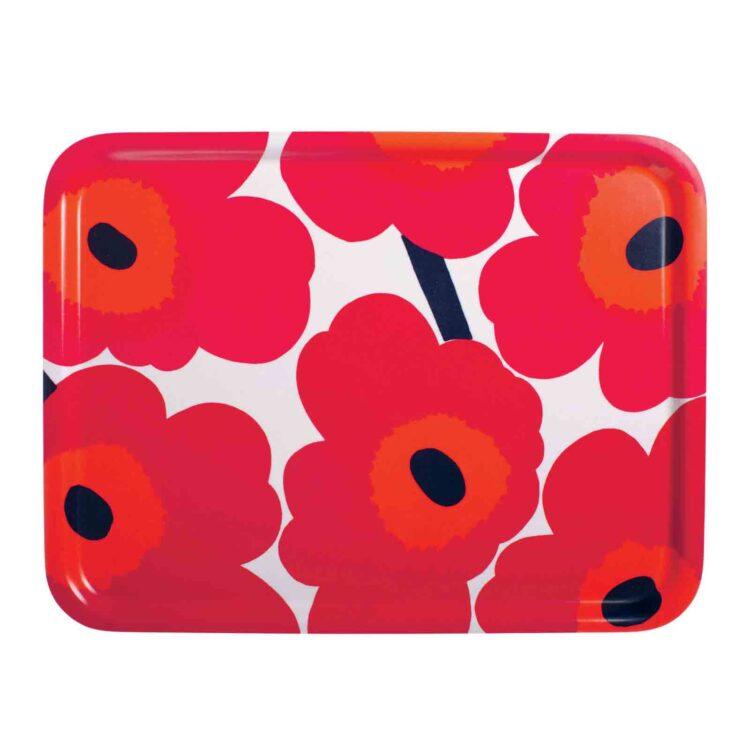 Rotes Marimekko Unikko Tablett bei der Boutique Danoise