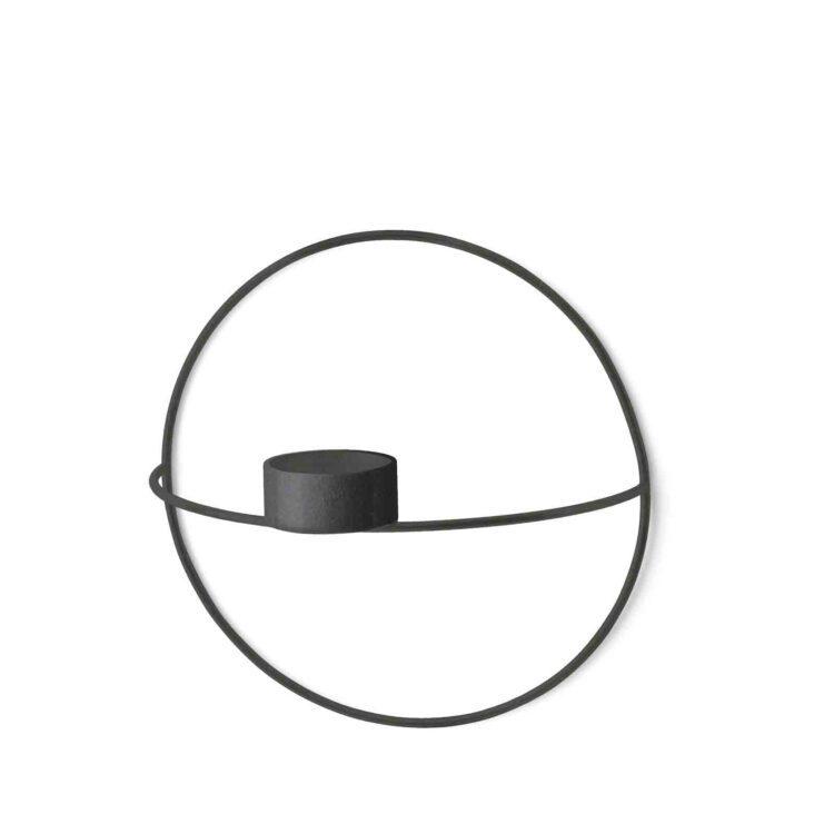Schwarzer Menu POV Circle Kerzenhalter bei der Boutique Danoise