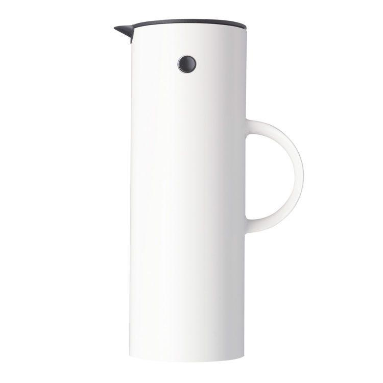 Weisse Stelton Isolierkanne EM77 - 1 Liter