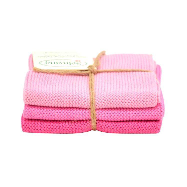 Solwang Wischlappen 3er Set - Pink