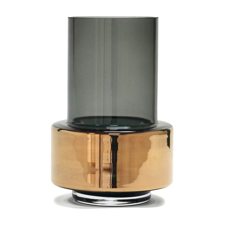 Ro HURRICANE Vase in Grau und Gold bei der Boutique Danoise