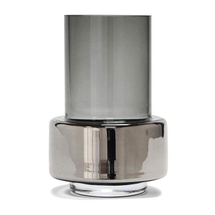 Ro HURRICANE Vase in Grau und Platin bei der Boutique Danoise