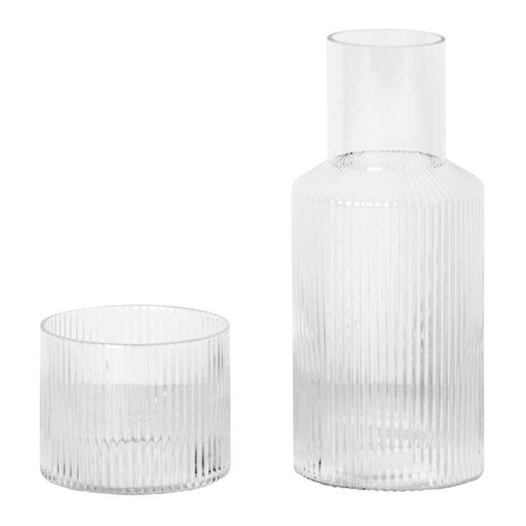 Ferm Living Set aus Glaskaraffe und Glas